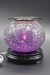Purple Glass Mosaic Round Cracked Glass